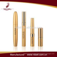 2016 melhor venda de tubo de rímel de ouro vazio, fábrica vender conjunto de cosméticos, design exclusivo embalagem de cosméticos