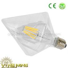 Bulbo claro do filamento do diodo emissor de luz da luz da loja do hotel do E27 do brilho do diamante de 6.5W