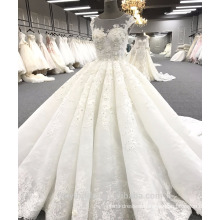 Alibaba high quality ball gown luxury wedding dress WT271 Ivory