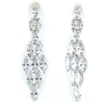 Buena calidad y joyería de la mujer de la manera 925 pendiente de plata (e6478)