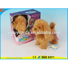 Hot Sell Kids' Toy Beautiful Walking Electric Skip Plush Brown Dog