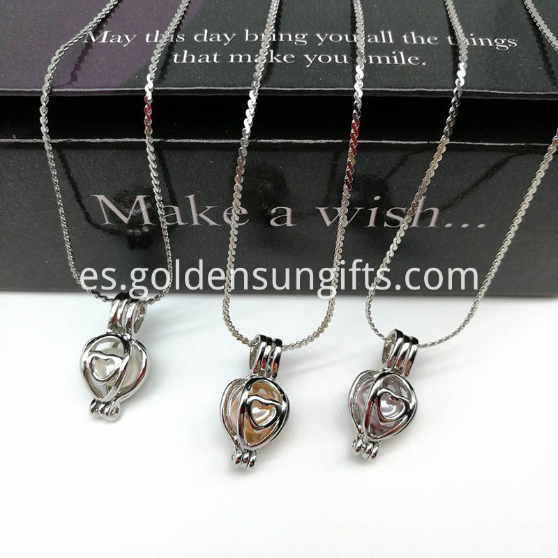Love Pearl Cage Pendant Necklace