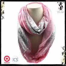 2014 Großhandel Silber Druck spezielle Design Schals