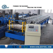 Color Steel Standing Seam Roof Roll Forming Machine, Steel Structure Building Decorative Self Lock Forming Machine