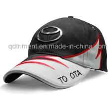 Bordado personalizado de metal del emblema de algodón de sarga de golf de golf (TRB037)