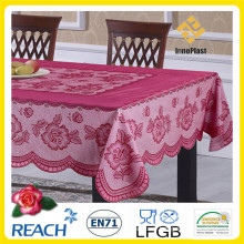 PVC /Vinyl Plastic Color Lace Tablecloth Ready Made