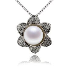 Snh Flower Shape Nice Women Freshwater Pearl Pendant