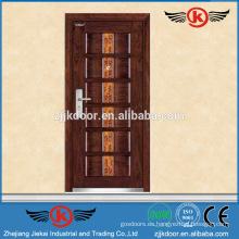 Puerta principal blindada de metal JK-A9021B tallando diseños