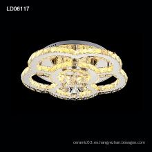 iluminación del cristal del estilo de la flor de la lámpara del comedor