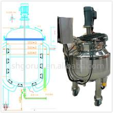 Réservoir de mélange pharmaceutique de l'acier inoxydable 1200l, réservoir de mélange de pâte dentifrice