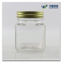 300ml Square Honey Glass Jar Candy Glass Jar