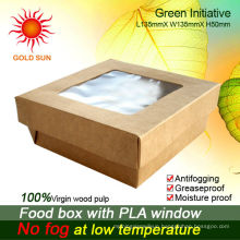 2013 Newest Fast Food Packaging,Square Fast Food Box With Window