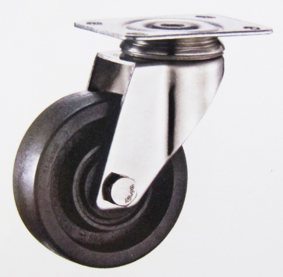 220 High Termperature Swivel Caster Wheel Stainless Steel Bracket