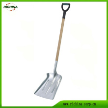 Aluminum Scoop Shovel with Wood Handle