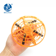 Interactive Flying Saucer Infrared Sensing Gesture Controlled Induction Drone for Multiplayers