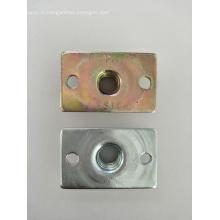 Ecrou à souder plat en acier au carbone rectangulaire