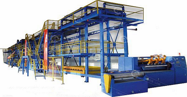 Automatic production line of bitumen sheet waterproofing