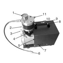 Compressor de ar de pistão elétrico 300 bar
