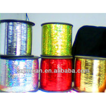 colorful metallic yarn
