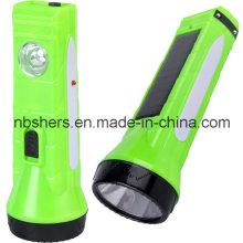 Lampe de table à lampe de poche solaire rechargeable à LED