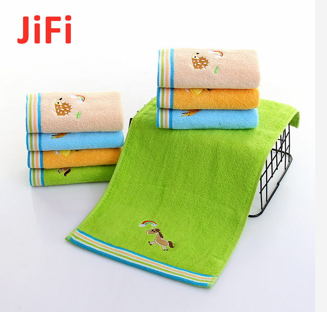 Kids Baby Hot Selling Pretty Design Soft Cotton Face Towel 3
