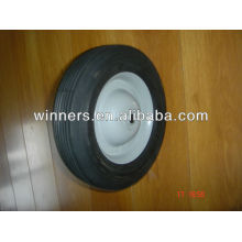 semi-pneumatic 8 inch small rubber wheels