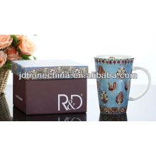 Tazas de cerámica impermeables de la porcelana del drinkware de la casa de la oficina en caja de regalo