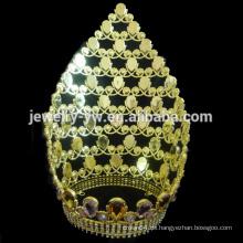 Art und Weise große hohe Diamant-Festzug-Tiara-Krone