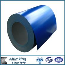 Bobina de aluminio recubierto de color de resina para ACP