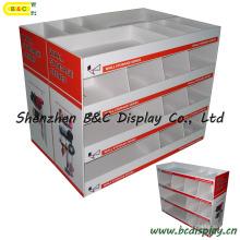 Présentoir en carton d'outil de matériel, affichage de compteur, support d'affichage de bruit, étalage d'affichage (B & C-A070)