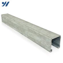 Estructura de acero Sistema de suspensión y soporte Canal de puntal laminado en frío