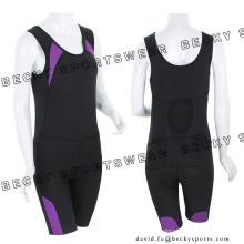 Senhoras elástico Close-Fitting respirável vestuário ciclismo