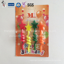 Salable Spiral Tube Shaped Candle with Star Decoration