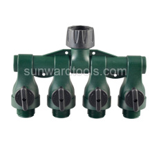 4 Way Plastic Tap Adaptor