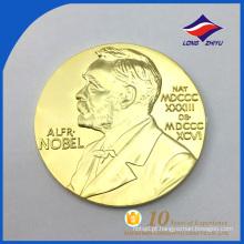 Moeda personalizada em relevo politicamente dourada com preço baixo para lembrança
