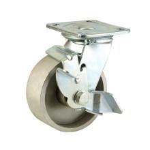 Tipo de travagem lateral Tipo de serviço pesado Rolamento de roda duplo Roda de roda de ferro fundido completo (KHX3-H12)