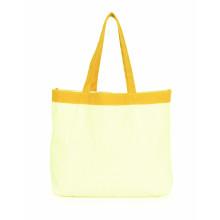 Pure color cotton canvas shopping bag
