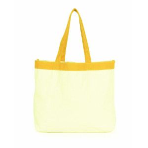 Pure color cotton canvas shopping bag