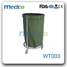 WT003 Chariot à linge en acier inoxydable pour chariot à linge chariot à linge sale
