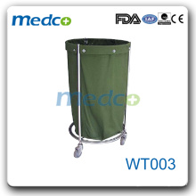 WT003 Stainless steel hospital use nurse feculence cart dressing trolley