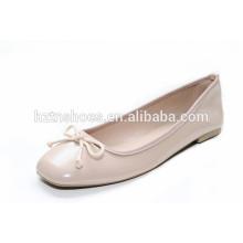 Zapato rosado dulce 2015 de la señora del color zapato cuadrado de los planos del dedo del pie zapato femenino