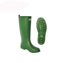 Professional China for Rain Shoe Cover Green Pure Rubber Rain Boot with Label supply to Egypt Wholesale