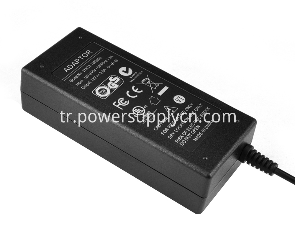 36V DC output power adapter