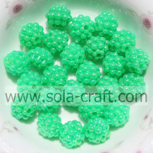 10MM Factory Price Opaque Acrylic Berry Beads Green Color