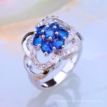 Großhandels-Alibaba-blauer Saphir-Diamant-Schmucksachemarkt-Ring