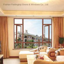 Fenêtres en aluminium à battant vitrées avec vitre fixe (FT-W70)