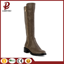 stylish Fashionable dark green flat woman boots