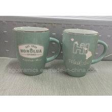 Sandblast Ceramic Mug, Sandblast Mug, Laser Engraved Mug