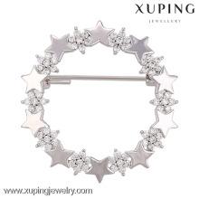 00007-xuping élégante broche épingles de hijab, broches de mariage étoiles