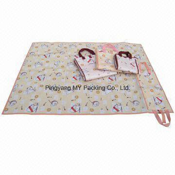 Wholesale Carrying Leisure PP Woven Beach Mat for Children